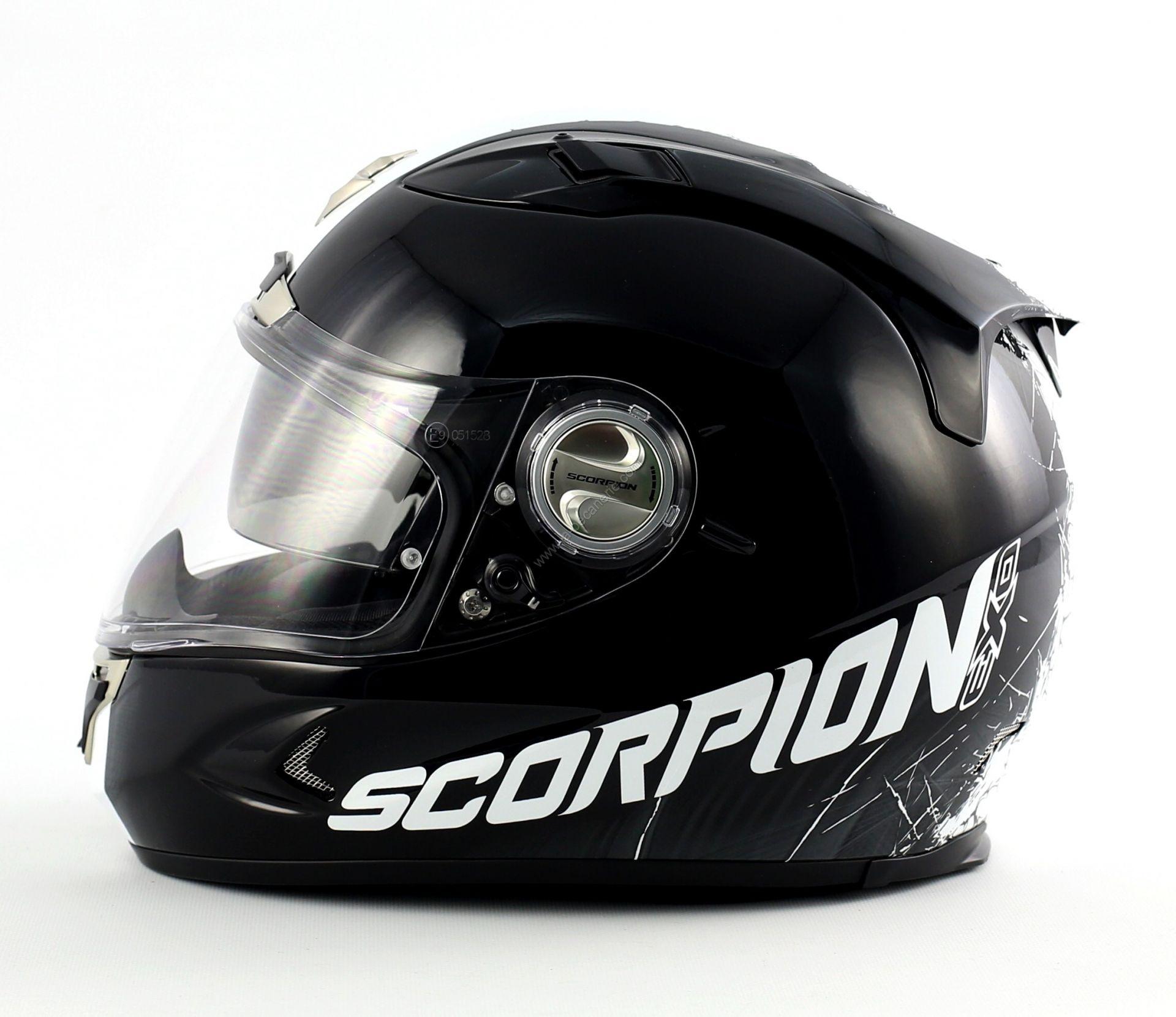 casque int gral scorpion exo 1000 air splitter noir blanc. Black Bedroom Furniture Sets. Home Design Ideas