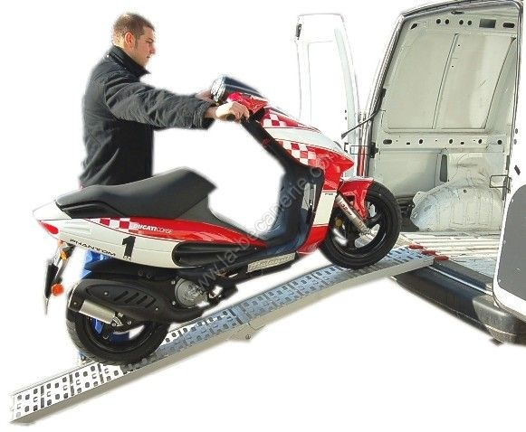 rampe de chargement alu pliable 340kg rampe moto one italia. Black Bedroom Furniture Sets. Home Design Ideas