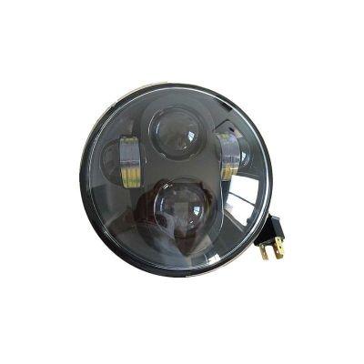 Phare LED Night Brazoline noir Ø 140 mm