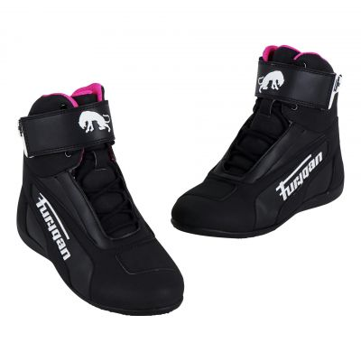 Chaussures moto femme Furygan Zephyr Lady D3O noir/blanc/rose