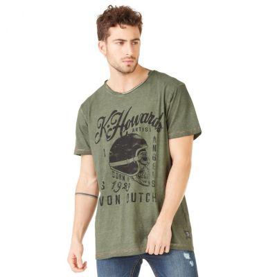 Tee-shirt Von Dutch Cortes'19 Vert Kaki