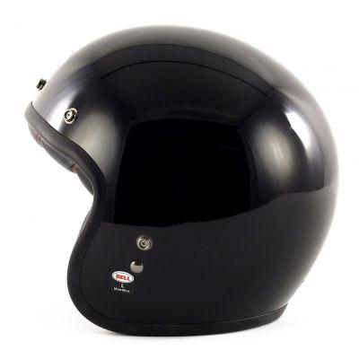 Casque jet Bell Custom 500 noir brillant