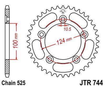 Couronne JT Sprockets Acier pas 525 36 dents - Pour Ducati 999 03-06