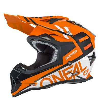 Casque cross O'Neal 2 Series RL Spyde orange/blanc