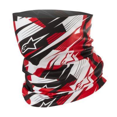 Tour de cou Alpinestars Blurred noir/blanc/rouge