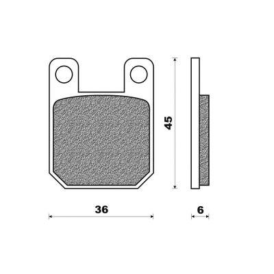 Plaquettes de frein Newfren Standard organique .FD.0094 BS