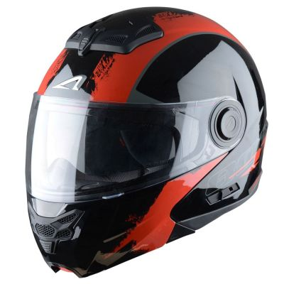 Casque Modulable Astone Rt800 Graphic Exclusive Venom noir/rouge