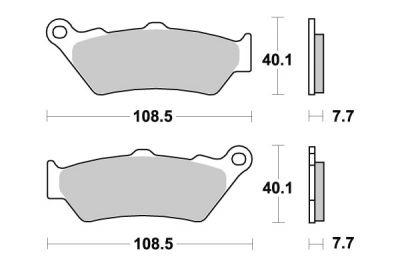 Plaquettes de frein SBS métal fritté 674LS