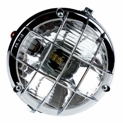 Feux avant complet avec grille + témoin - diamètre 105 Homologué