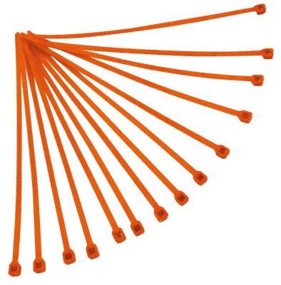 Collier de serrage nylon 3,6x180 mm Racetech oranges