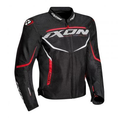 Blouson textile Ixon Sprinter Air noir/rouge