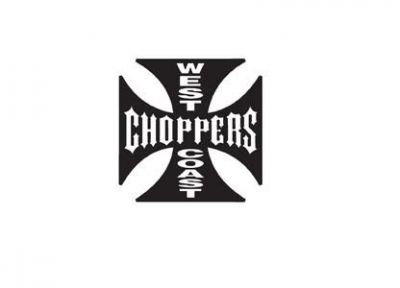 Autocollant WEST COAST CHOPPERS Noir