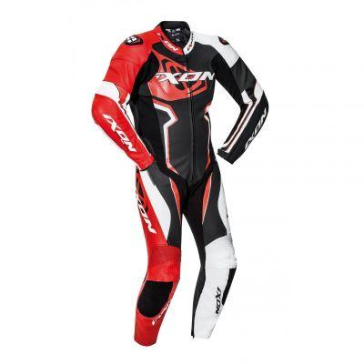 Combinaison cuir Ixon Falcon noir/blanc/rouge