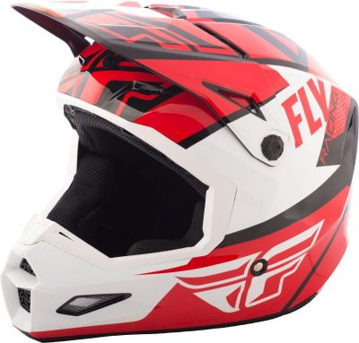 Casque cross Fly Racing Elite Guild rouge/blanc/noir