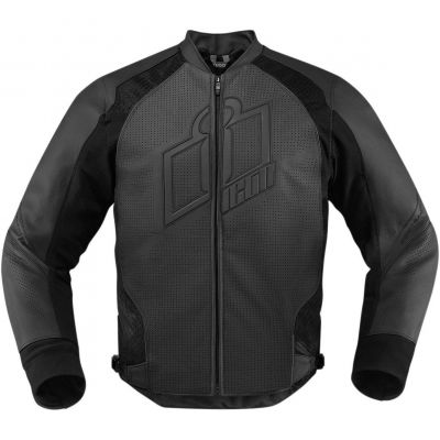 Blouson cuir Icon Hypersport noir