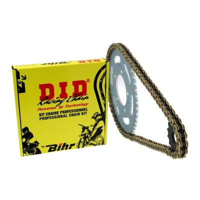 Kit chaîne DID 428 type HD 15/50 couronne standard Derbi 125 Coss city 07-08