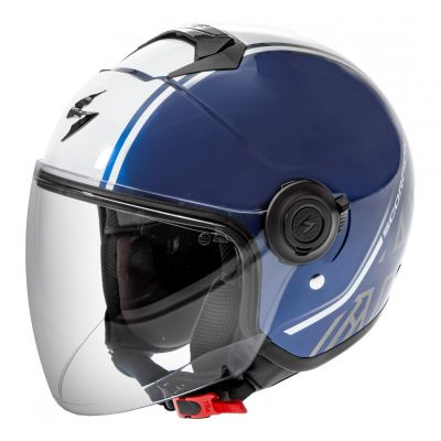 Casque jet Scorpion Exo-City Avenue dark blue/blanc