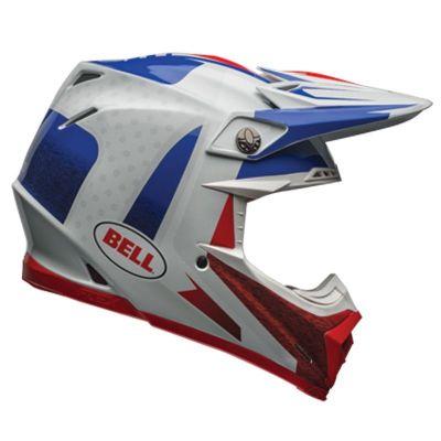 Casque cross Bell Carbon Flex Moto 9 Vice bleu/rouge