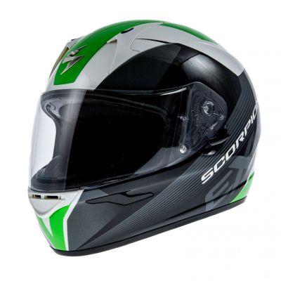 Casque intégral Scorpion EXO 410 AIR SLICER Blanc Noir Vert