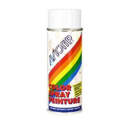 Bombe peinture glycero blanc brillant Motip 400ml