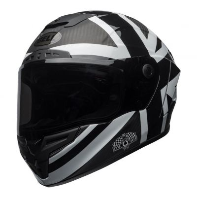 Casque intégral Bell Race Star Ace Café Blackjack noir/blanc mat/brillant