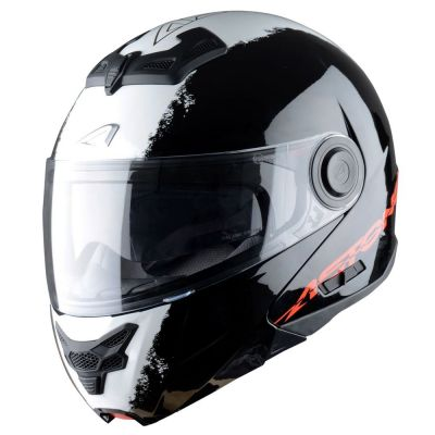 Casque Modulable Astone Rt800 Graphic Exclusive Stripes noir/blanc