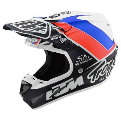 Casque cross Troy Lee Designs SE4 Composite Unite Mat blanc/navy