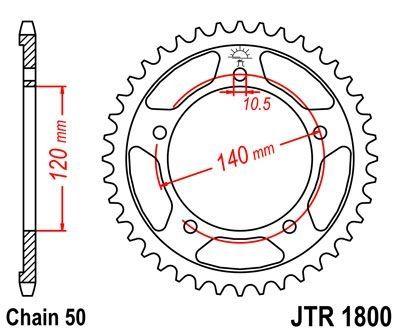 Couronne JT Sprockets Acier pas 530 44 dents - Pour Triumph Tiger 1050 07-14