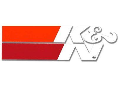 Autocollant haute température K&N 34x108mm blanc