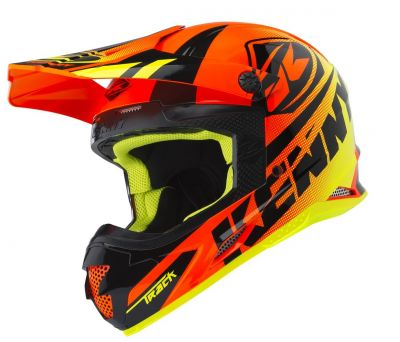Casque cross Kenny Track orange fluo