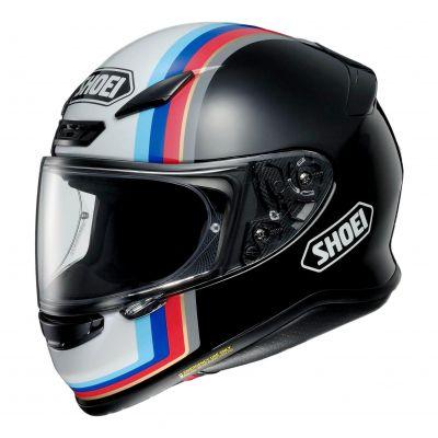 Casque intégral Shoei NXR Recounter blanc/noir/rouge/bleu