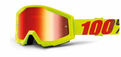 Masque cross 100% Strata Mercury Mirror red lens