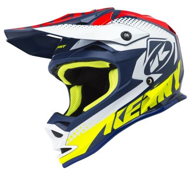 Casque cross Kenny Performance navy/rouge