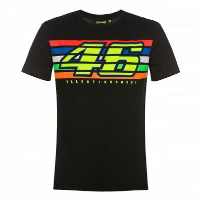 Tee-shirt VR46 Valentino Rossi Stripes The Doctor noir 2019
