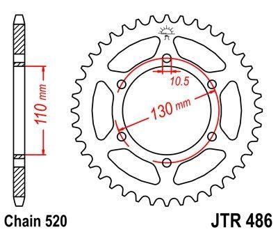 Couronne JT Sprockets Acier pas 520 42 dents - Pour Kawasaki Ninja 300 13-16