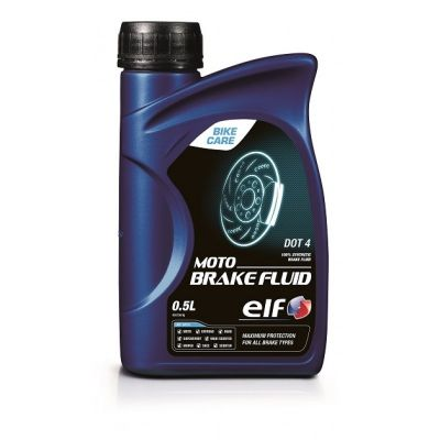 Liquide de freins Moto Brake Fluid DOT 4 ELF 100 % synthèse