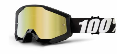 Masque cross 100% Strata Outlaw Mirror gold lens