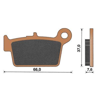 Plaquette de frein céramique arrière RR Enduro 50/125