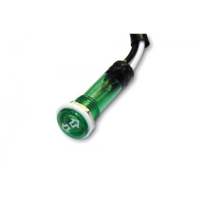 Voyant lumineux Brazoline Ø 12 mm vert pour clignotants