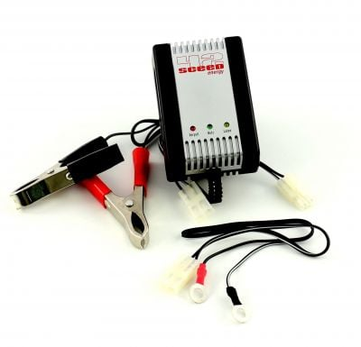 Chargeur batterie 1Tek Origine AL 800 2V, 6V, 12V, 0,8A.Cable maintien de charge fournit.