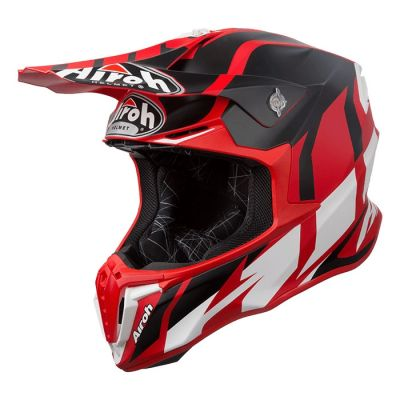 Casque cross Airoh Twist Great rouge mat