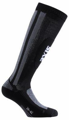 Chaussettes moto haute Sixs mots noir