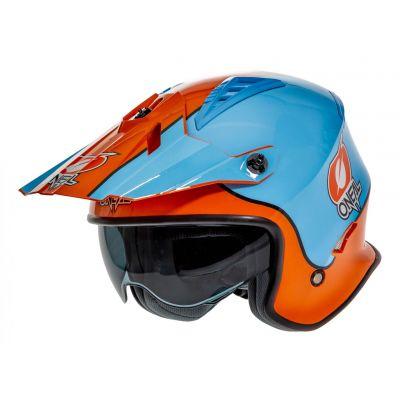 Casque jet O'Neal Volt Gulf orange/bleu