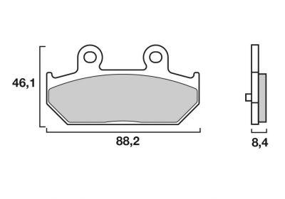 Plaquettes de frein Brembo 07058XS métal fritté arrière