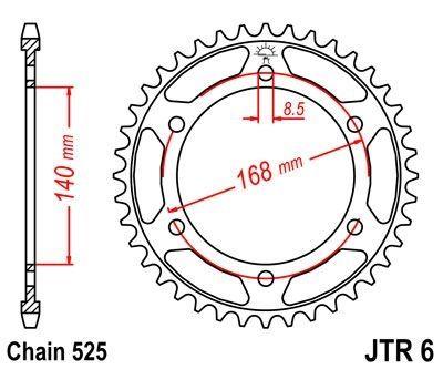 Couronne JT Sprockets Acier pas 525 41 dents - Pour BMW F 650 GS 08-12 perçages 8.5 mm