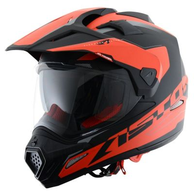 Casque intégral Astone CROSS TOURER GRAPHIC ADVENTURE noir/rouge mat