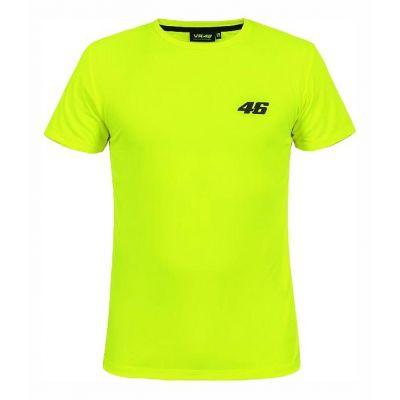 Tee shirt VR46 Core jaune fluo (petit numéro)