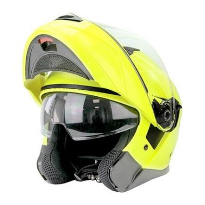 Casque modulable Noend District jaune fluo