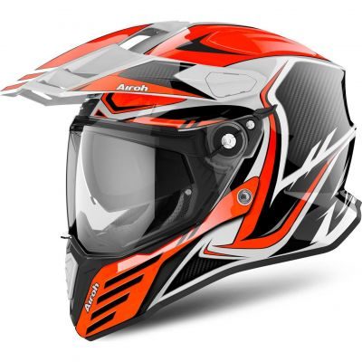 Casque trail Airoh Commander Carbon orange