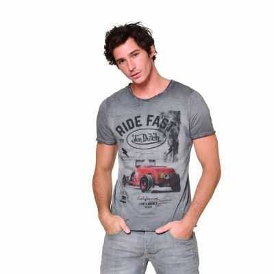 Tee-shirt Von Dutch Ride Fast gris